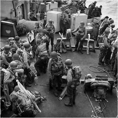 D Day on deck of ship prior to landing