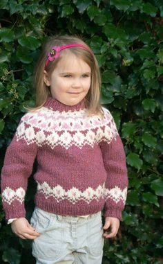 Each of our high quality Icelandic jerseys is knitted by a specialist Scottish knitter in their own home using a traditional Icelandic pattern and, as a certificate of authenticity, your jersey will come labelled with the knitters name and location. Baby Cardigan Knitting Pattern Free, Baby Sweater Patterns, Fair Isle Knitting Patterns, Knitted Baby Cardigan, Norwegian Knitting, Icelandic Sweaters, Knitting For Kids, Baby Sweaters, Baby Girls
