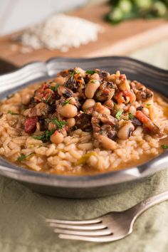 Spicy Black-Eyed Peas and Rice For New Year's - This Spicy Black-Eyed Peas and Rice is perfect for New Year's Eve dinner and as leftovers for New Year's Day! Brown Rice Recipes, Tofu Recipes, Asian Recipes, Easy Recipes, Healthy Recipes, Southern Food, Southern Recipes, Vegetable Side Dishes, Vegetable Recipes