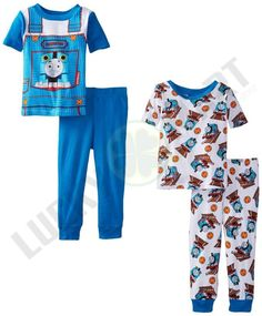 Thomas the Train Little Boys' Conductor Uniform 4 Piece Pajama Set - coupon ray bans Pajama Set, Pajama Pants, Cheap Sweaters, Thomas The Train, Sweatshirt Outfit, Conductors, White Tees, Little Boys, Jumpsuit