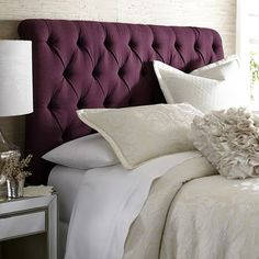 Audrey Queen Headboard - Merlot Tufted Headboards, Bed Frame And Headboard, Queen Headboard, Wood Headboard, Bed Frames, Pier 1 Decor, Make Your Bed, First Home, Bedroom