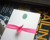 Oval Monogram Note Pad - Preppy Personalized Notepad by AdorePrep (Set of 2)