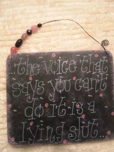 the voice that says you can't do it is a lying slut. Just bought this for my home office... Love it!