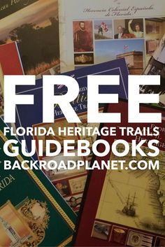 The Florida Heritage Trail Publications are a series of 10 free themed guidebooks about hundreds of historical and cultural destinations across the state.