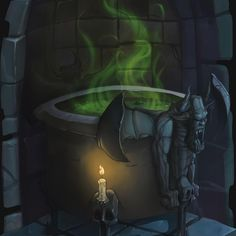 So, we were thinking, we have a lot of people drawings, let's do some props... ok... how bout a magic cauldron?   #magiccauldron #fantasydrawing #gameassets #flamalamastudio