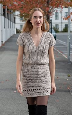 116ea3e80a98 The Never Cold Mini Dress CROCHET PATTERN by @highinfibre (quick and easy,  suitable for all levels!)