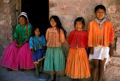 People of the Tarahumara village in the mountains above Batopilas, Mexico