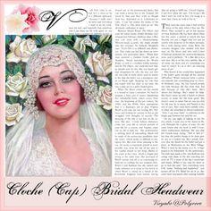 Vintage Cloche Wedding Veils (Bridal Headpiece for Young Brides) #bride #weddingdress #weddingveil