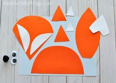 Newspaper fox craft for kids, fun woodland animal crafts, newspaper crafts, crafting with recyclable materials and fall animal crafts for kids. Arts And Crafts Box, Arts And Crafts Movement, Sand Crafts, Rock Crafts, Animal Crafts For Kids, Art For Kids, Kids Fun, Fun Craft, Kindergarten Crafts