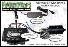 FrightProps Support & Training Center - Control a 12vDC Motor from a PicoBoo