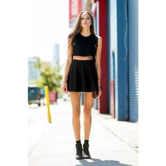 How To Wear All Black In The Summer via Polyvore