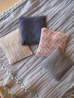 Four Sachets by bluepeninsula, via Flickr