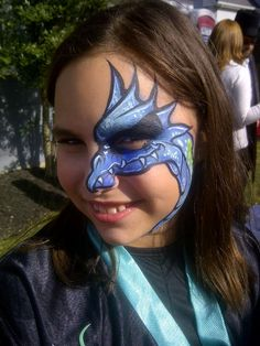 Dragon face painting ideas for kids