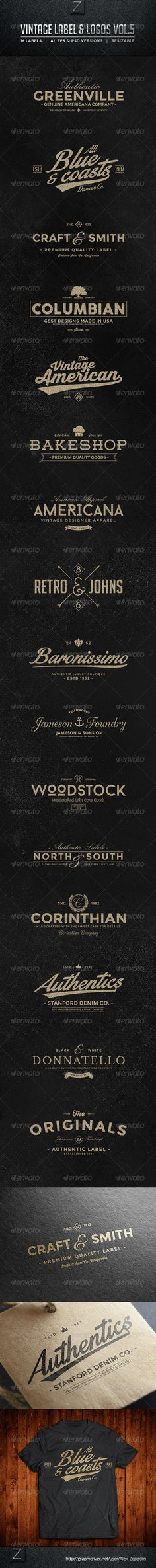 Vintage Labels & Logos Template | Buy and Download: http://graphicriver.net/item/vintage-labels-logos-vol5/8659229?WT.ac=category_thumb&WT.z_author=Alex_Zeppelin&ref=ksioks