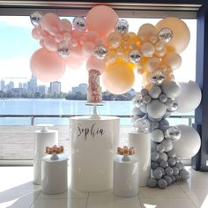 An incredibly beautiful and chic display at @carouselalbertpark featuring our custom made balloon colors and design @boutiqueballoonsmelbourne all props by @willowtreeevents