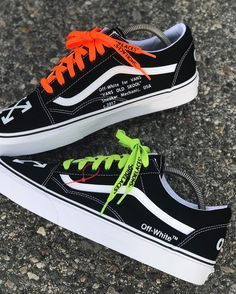 """Off-White"" Vans now available for purchase! ⚠️PSA: I will be closing down my website on March until the end of April! So if you want any customs place an order ASAP! Vans Sneakers, Tenis Vans, Sneakers Mode, Vans Shoes Fashion, Sneakers Fashion Outfits, Custom Vans Shoes, Custom Sneakers, Cute Vans, Aesthetic Shoes"