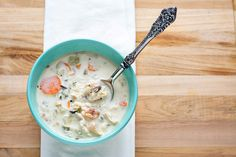 Creamy Chicken and Wild Rice Soup with Bacon by Courtney | Cook Like a Champion, via Flickr