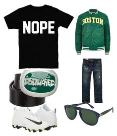 """""""simple and fabulous cool boys"""" by domowa-jallah on Polyvore featuring NIKE, River Island, Hollister Co., Dsquared2, Persol, men's fashion and menswear"""