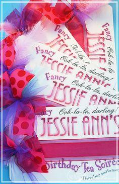 A Fancy Nancy Inspired Affair | Loralee Lewis