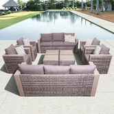 Found it at Wayfair - Atlantic Cameron 10 Piece Conversation Set with Cushions