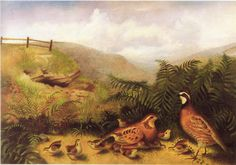 Landscape_with_quail_cock_hen_and_chickens_rubens_peale