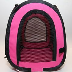 Pink Squared Pet Carrier for Outdoor Traveling  Dual Mesh Openings  PuppyCat >>> Details can be found by clicking on the image.-It is an affiliate link to Amazon.