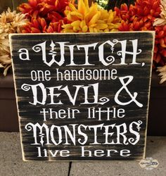 a witch one handsome devil and their little monsters by SignsbyJen