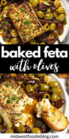 Vegetarian Recipes, Cooking Recipes, Healthy Recipes, Fancy Recipes, Yummy Appetizers, Appetizer Recipes, Health Appetizers, Baked Feta Recipe, Mediterranean Recipes