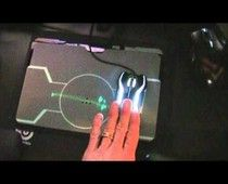 Razer TRON gaming mouse in action