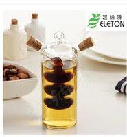 Kitchen Supplies Eco Friendly Gl Olive Oil Bottle Cruet And Vinegar Double Oiler Stopper Jar