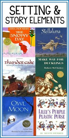 My favorite read alouds for Setting and Story Elements! Read the post for specific lesson ideas!