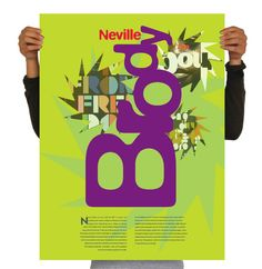 Neville Brody Promotional Poster - betsy escobar | design portfolio World Cup Shirts, Neville Brody, The Face Magazine, Bold Fonts, Brand Packaging, Creative Studio, Portfolio Design, Art Projects, Web Design