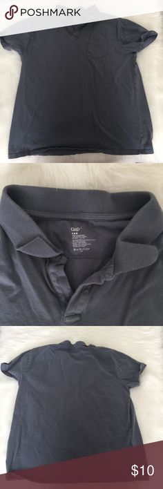 💚 Men's Gap polo in a light grey In excellent condition. Men's shirt sleeve polo in a light grey muddy blue color!  This is a special item!   Our closet is built on quality and quantity!   We want you to get the most bang for your buck!   Add💚💚💚 three $10 items to a bundle for only $22!  Add 💙💙 two $22 items to a bundle for only $32!  Add 💙 one $22 and 💚 one $10 item to a bundle for only $26! GAP Shirts Polos