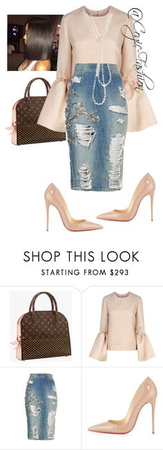 """""""Untitled #636"""" by cogic-fashion ❤ liked on Polyvore featuring Roksanda, Christian Louboutin and Chanel"""