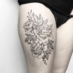 Floral tattoo @mary_tereshchenko