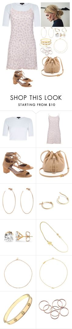 """""""Untitled #315"""" by californiamariposa ❤ liked on Polyvore featuring River Island, Alice + Olivia, Tabitha Simmons, Marc by Marc Jacobs, Diane Kordas, J.Crew, Jennifer Meyer Jewelry, Yves Saint Laurent and Cartier"""