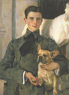 Portrait of Count Felix Sumarokov-Elston (1903) by Valentin Serov. Prince Felix Yusupov (1887-1967) Russian aristocrat, best known for participating in the assassination of Grigori Rasputin.