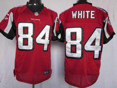 Nike Elite Atlanta Falcons #84 White red jersey  ID:8999   $23