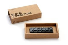 BLOCD Typesetting packaging concept by BLOCD
