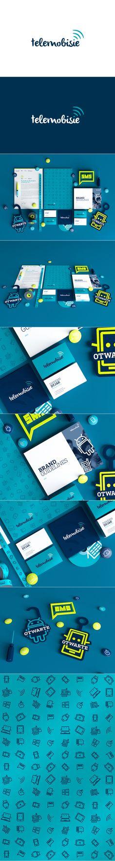 Cool Brand Identity Design. Telemobisie. #branding #brandidentity [http://www.pinterest.com/alfredchong/]