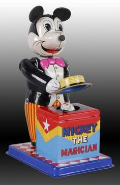 Lot # : 1407 - Walt Disney Linemar Mickey Mouse the Magician Toy. Minnie Mouse Toys, Vintage Mickey Mouse, Children's Toys, Tin Toys, Retro Toys, Vintage Toys, Walt Disney Images, Vintage Disney Posters, Dark Disney