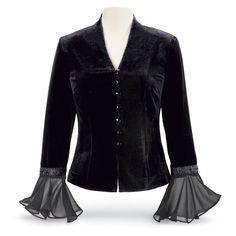 Victoria Velvet & Georgette Jacket - Women's Clothing & Symbolic Jewelry – Sexy, Fantasy, Romantic Fashions
