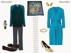 Capsule wardrobe inspiration - Wearing Hermes Grands Fonds Silk Scarf All Year - July through December   The Vivienne Files