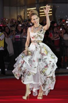 Sarah Jessica Parker in a floral gown