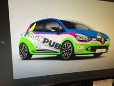 simulation pao de votre marquage publicitaire sur véhicules par maquette graphique informatisée. Simulation, Mockup