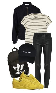 """Untitled #29"" by missophiehopper on Polyvore featuring adidas Originals, Glamorous, Monki and adidas"