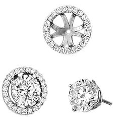Classic Earring Jackets Available for your diamond, pearl and gemstone studs from Spark Creations