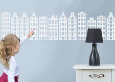 Houses Nursery Decoration Headboard AMSTERDAM houses by CGhome