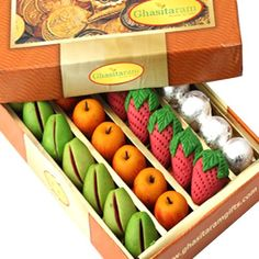Ghasitarams Sugarfree Pure Kaju Mix 1000 gms - Online Shopping for Diwali Sweet Hampers by Ghasitaram Gifts