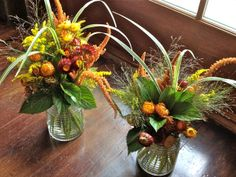 fall outdoor country party | ... make a bold statement for fall in vintage glass storage containers